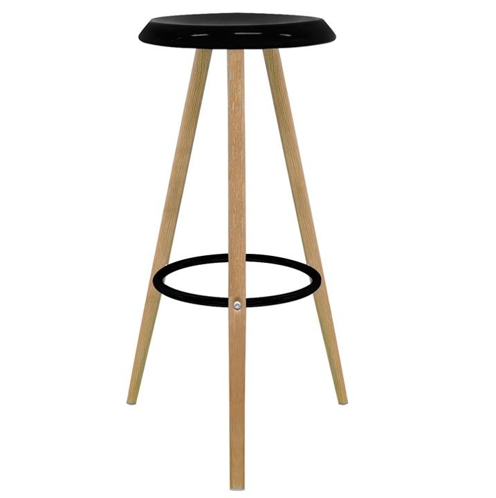 Set 2 taburetes en estilo n rdico key 45x45x74 cm for Taburete estilo nordico