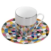 Taza con Plato Magic en Porcelana Multicolor