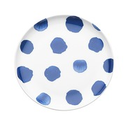 Plato Aperitivos Indi Lunares Azules en Porcelana 16 x 2 cm