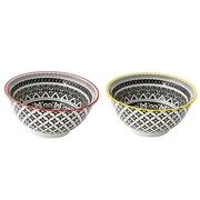Set 2 Bowls Design+Art en Porcelana Geométrico 15 x 9 cm