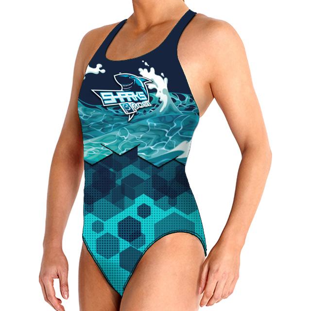 Bañador Natación para Mujer BBOSI Confort Sharks Outlet TM