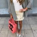 Minifalda estampada tonos claros