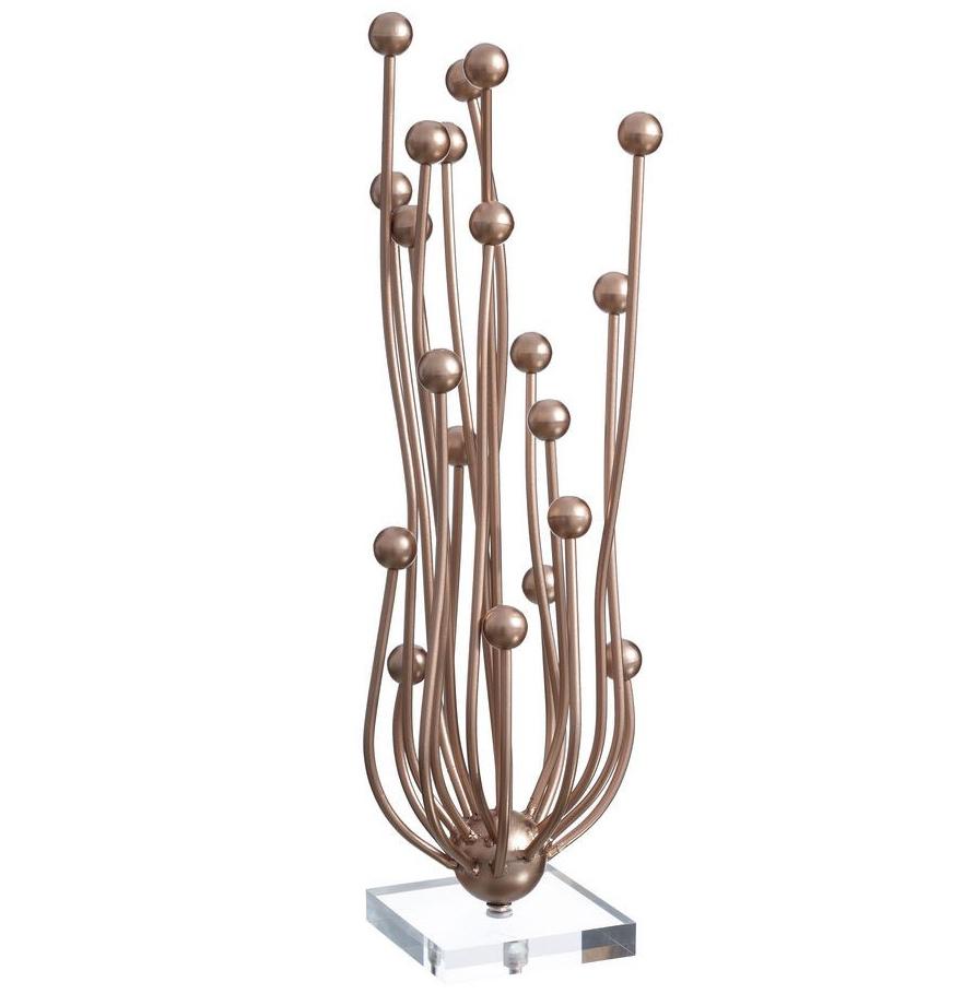 Escultura Decorativa En Hierro Esferas 15 X 17 X 53 Cm - Escultura-decorativa