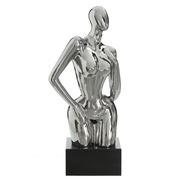 Figura Decorativa Mujer en Cerámica 21 x 34 x 71,5 cm