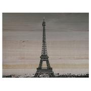 Cuadro Horizontal de Madera Torre Eiffel 60x45cm