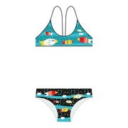 Bikini Deportivo SwimGo Girls Sport Bikinis Fishes Design