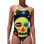 Bañador de Entrenamiento SwimGo Girls Training Swimsuits Skull Design