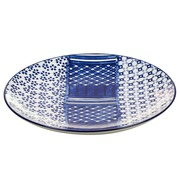 Plato Art & Craft Cenefa Azul en Porcelana 20 x 20 x 3 cm