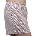 Pantalon corto pijama rayas granates