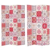Biombo Blend Red 3 Hojas en Lienzo y Madera 2,5 x 120,6 x 180 cm