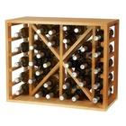 Botellero para vino de pino con capacidad para 34 botellas