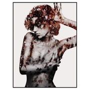 Cuadro Impresión Mujer en Papel con Marco en DM 2,5 x 60 x 80 cm