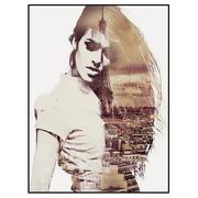 Cuadro Impresión Mujer en Papel con Marco DM 2,5 x 60 x 80 cm