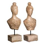 Figura Busto Natural con Soporte 12,5 x 19 x 45 cm