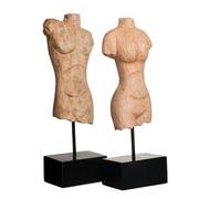 Figura Busto Natural con Soporte 10 x 13 x 39,5 cm