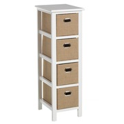 Mueble Auxiliar Sack Trend 4 Cajones 26 x 32 x 82 cm