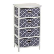 Mueble Auxiliar Blue 4 Cajones 29 x 40 x 73 cm