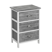 Mueble Auxiliar Light Grey 3 Cajones 29 x 40 x 58 cm