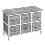 Mueble Auxiliar Light Grey 6 Cajones 32 x 66 x 46 cm