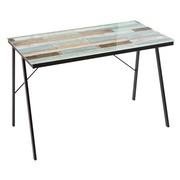 Mesa Escritorio Wood en Cristal y Metal 60 x 110 x 75 cm