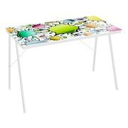 Mesa Escritorio Color Boom en Cristal y Metal 60 x 110 x 75 cm