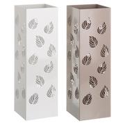 Paraguero Hojas en Metal Blanco Beige 15,5 x 15,5 x 49 cm