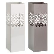 Paraguero Cenefa en Metal Blanco Gris 15,5 x 15,5 x 49 cm