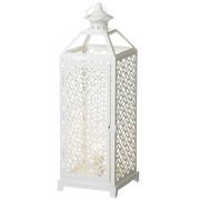 Lámpara en Metal Blanco 17 x 17 x 47 cm