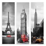 Cuadro Fotoimpresión Ciudades en Lienzo 3 x 30 x 100 cm