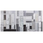 Cuadro al Oleo Abstracto Gris Negro 4 x 140 x 70 cm
