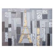 Cuadro al Oleo Torre Eiffel en Lienzo 4 x 120 x 90 cm