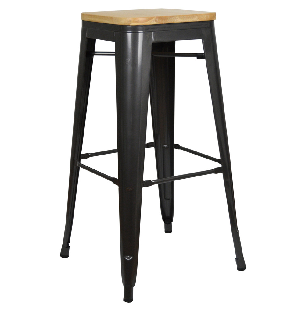 tabouret haut tolix de design industriel vintage avec. Black Bedroom Furniture Sets. Home Design Ideas
