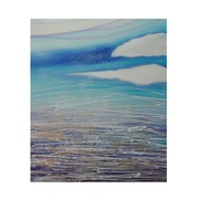 Cuadro Abstracto Azul Pintado al Oleo 4 x 110 x 135 cm