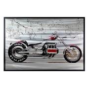 Cuadro Moto Roja en Hoja de Aluminio 3 x 120 x 80 cm