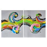 Juego 2 Cuadros Abstractos en Lienzo 3 x 120 x 150 cm