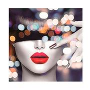 Cuadro Labios Mujer Impreso en Lienzo 3 x 60 x 60 cm