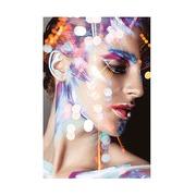 Cuadro Chica con Maquillaje Impreso en Lienzo 3 x 80 x 120 cm
