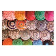 Cuadro Platos Colores Impreso en Lienzo 3 x 120 x 80 cm