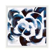 Cuadro Abstracto Azul Impreso en Acrílico 4 x 92 x 92 cm