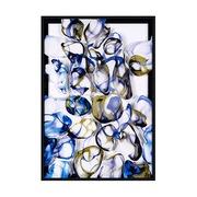 Cuadro Abstracto Azul Impreso en Acrílico 4 x 82 x 122 cm
