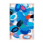 Cuadro Abstracto Azul en Acrílico 4 x 62 x 92 cm