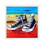 Cuadro Zapatillas Negras Impreso en Acrílico 4 x 92 x 92 cm