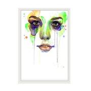 Cuadro Rostro Chica de Colores Impreso 4 x 42 x 62 cm