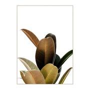 Cuadro Hojas Verde Impreso en Lona 4 x 100 x 140 cm