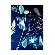 Cuadro Flores Azules Impreso en Lona 4 x 100 x 140 cm