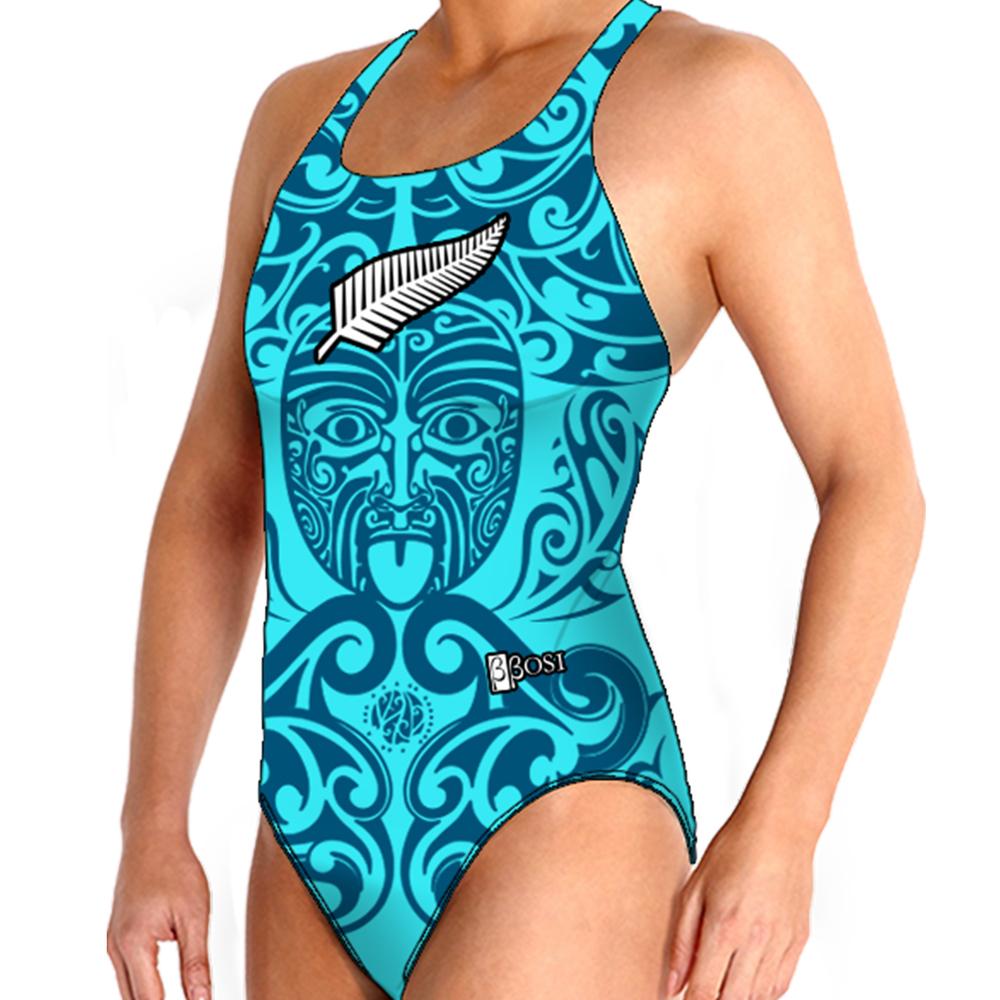 BBOSI Bañador Waterpolo Femenino New Zealand Turquoise Outlet