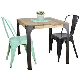 Muebles vintage de madera y metal productos outlets y for Mesas estilo industrial