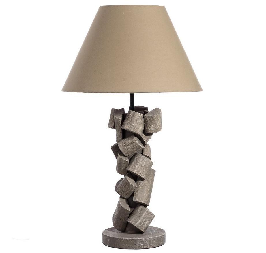 Lámpara de Mesa en Madera de Pino y DM 35 x 35 x 60 cm