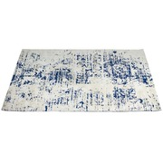 Alfombra Azul Blanco Rectangular
