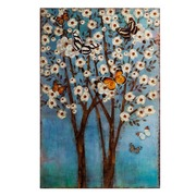 Mural Mariposas Azul en Hierro Azul 2 x 53 x 80 cm
